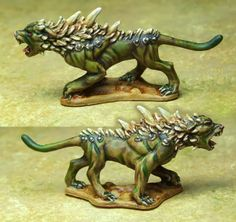 Shouting Into The Void: Hell hound. on my trail Dungeons And Dragons Miniatures, Daily Fantasy, Love Painting, Gifts For Friends, Bones, Trail, Lion Sculpture, Statue, Gaming