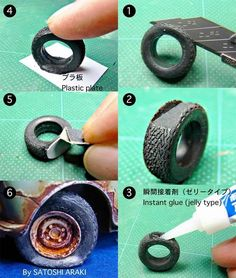 A cool tip on how to make a flat tire for your models.
