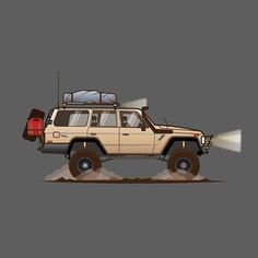Land Cruiser Of The Day! – Enter the world of Toyota Land Cruisers Toyota Land Cruiser, Land Cruiser 80, Jeep Xj, Jeep Truck, Carros Toyota, Toyota 4x4, Nissan Patrol, Expedition Vehicle, Car Illustration