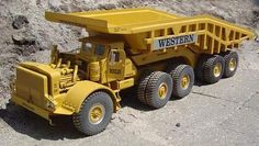 Euclid haul truck with Western dump wagon