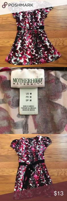 Motherhood Maternity Top Motherhood Maternity Top, size Medium! Beautiful top with colors red, pink, gray, burgundy, and black. Motherhood Maternity Tops