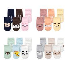 Bébé Coton Anti Slip Chaussettes Nouveau-Né Infantile Automne Hiver Chaussettes Animal de Bande Dessinée Chaussettes Pour Garçon Fille 0-2A
