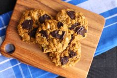Scientifically Sweet: Flourless Late-night Chocolate Peanut Butter Cookies (use gf oats and PB to be gluten free)