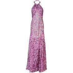 Blumarine Long Dress ($1,280) ❤ liked on Polyvore featuring dresses, fuchsia, fuchsia long dress, zipper dress, fuschia long dresses, zip dress and fuchsia dress