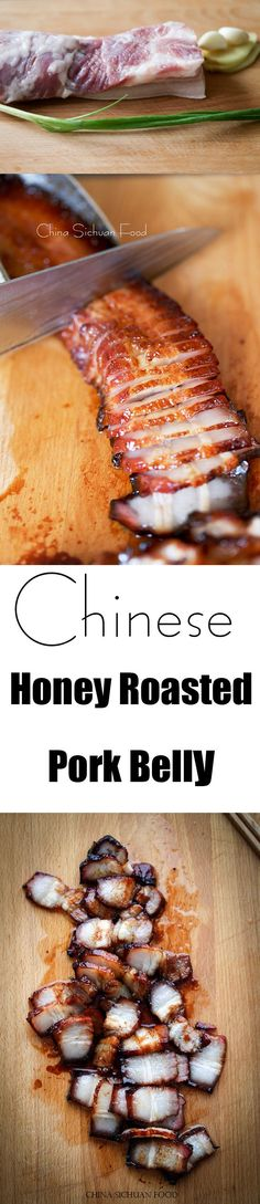 Belly with Honey Honey roasted pork belly Honey roasted pork belly Pork Belly Recipes, Meat Recipes, Asian Recipes, Cooking Recipes, Szechuan Recipes, Hawaiian Recipes, Chinese Recipes, Sausage Recipes, Vegetarian Recipes