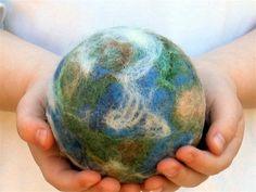 felted earth ball