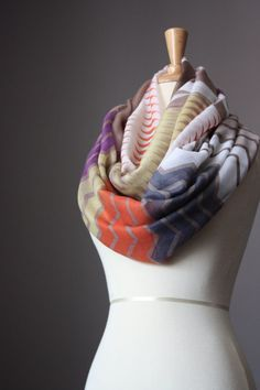 Infinity Scarf light loop tube circle by ScarfObsession on Etsy, $30.00