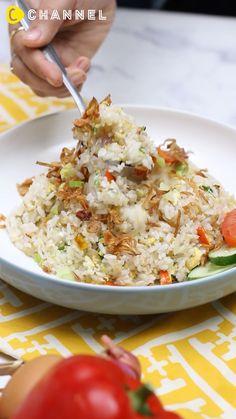 Recipe Videos, Food Videos, Nasi Goreng Kampung, Rice Pasta, Stay Safe, Soul Food, Noodles, Health Fitness, Menu
