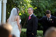 Bride & Groom giving vows during their wedding ceremony @Ardenwood Historic Farm in Fremont. Wedding Planning provided by Quantum Music Event Planners. Photograph by Rachel Blackwell Photography.