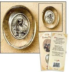Blessed By Pope Benedict St Gerard Patron Saint of Expectant Mothers Pocket Stone with OUR Lady of Perpetual Help on Other Side