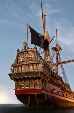 An impressive pirate ship built for Black Sails. © 2014 Starz Entertainment,