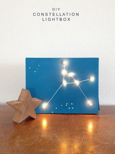 Teach the kids about constellations and electricity with this fun DIY constellation light box! Fun Crafts, Diy And Crafts, Arts And Crafts, Space Crafts, Constellations, Jewel Candle, Diy For Kids, Crafts For Kids, Art Projects