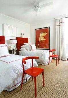 Vermelho no quarto!❤