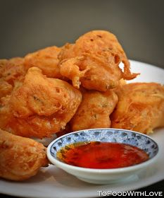 """Hot and crispy Cucur Udang   This isone of my favourite Malaysian """"pasar malam"""" (night market) snacks. I had a craving for it today after..."""