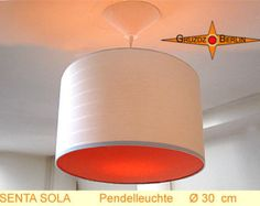 Hanging lamp orange diffuser SENTA SOLA Ø30 cm pendant lamp striped