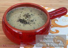 Cream of Portobello Mushroom Soup Recipe (Gluten, Grain, and Dairy Free) | deliciousobsessions.com