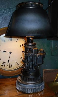 Steampunk carburetor lamp/ J Dooley