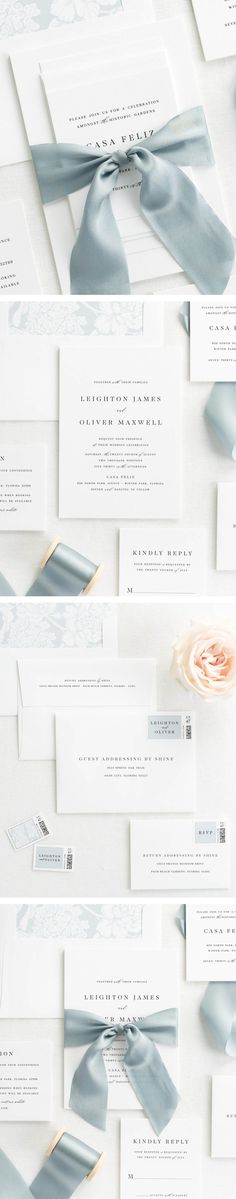 The Leighton wedding invitation collection is perfect for any polished and charming wedding.