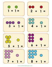 Math Flash Cards for Children - Printable PDF