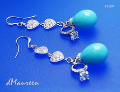 291ER  Love Love Romance white gold earrings by dMaureenVastine