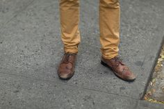 Street Style: Scotch & Soda pants with Aldo lace-up shoes.