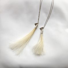 PONY jewellery by Annea Lounatvuori Tassel Necklace, Off White, Pony, Organic, Gift Ideas, Jewellery, Handmade Gifts, How To Wear, Fashion
