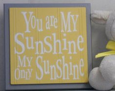 You are my sunshine // yellow and grey decor //