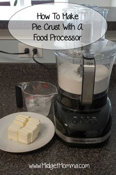 Making homemade pie crust is SUPER easy to do and with a food processor it is even easier! ONLY 3 ingredients and you can skip buying the premade store crust and make your own much cheaper! Great for all sorts of pies!