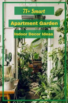 71+ Smart Apartment Garden Indoor Decor Ideas #gardendecorideas Container Gardening, Garden Landscaping, Decor Ideas, Indoor, Landscape, Plants, Front Yard Landscaping, Interior, Scenery