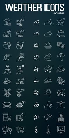 Free Weather & Activities Icon Set (80 Icons)