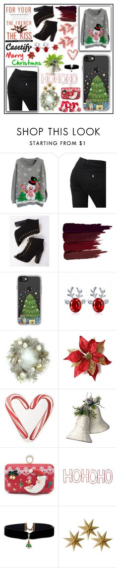 """Casetify"" by p-fatima ❤ liked on Polyvore featuring STELLA McCARTNEY, Maybelline, Serge Lutens, Casetify, Draper James, National Tree Company, Mr. Christmas and LumaBase"