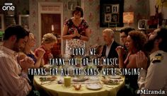 "BBC One: ""Thank you for the music"" Miranda This episode was so flippin funny"