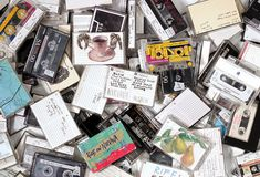 Some of Kurt Cobain's tape collection. Courtesy of Cobain estate via RollingStone Mag.