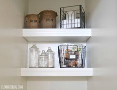 DIY bathroom Floating Shelves, an easy way to add storage to your bathroom. Bathroom Shelves Over Toilet, Bathroom Shelf Decor, Bathroom Storage, Toilet Shelves, Bathroom Interior, Bathroom Ideas, Bathroom Before After, Floating Shelves Diy, Shelf Design