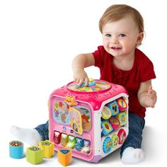 VTech Sort and Discover Activity Cube Pink