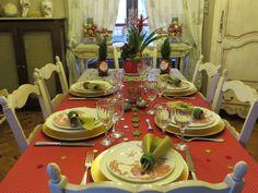 Christmas Table Settings, Table Decorations, Christmas, Xmas, Place Settings, Navidad, Noel, Natal, Dinner Table Decorations