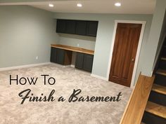 How to Finish Your Basement and Basement Remodeling Finishing your basement can almost double the square foot living space of your home. A finished basement can include new living space such as a r… Basement Carpet, Basement Bedrooms, Basement Stairs, Basement Flooring, Basement Bathroom, Basement Ideas, Bathroom Small, Basement Ceilings, Modern Basement