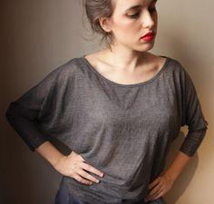 Gray Women Top Grey Top by BLUSHFASHION on Etsy, $45.00