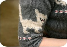sleeve of a knit sweater   xx
