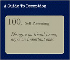 "A Guide To Deception — I made a post a while back about ""liking"" being a..."