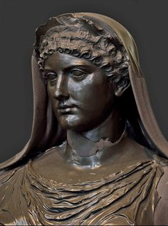 Statue of Agrippina. Basanite. 1st century CE. Inv. No. II. 44. M.C. 1882. Rome, Capitoline Museums, Museum Montemartini (Centrale Montemartini). (Photo by I. Sh.).