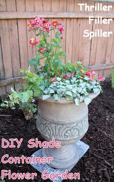 DIY container shade flower garden