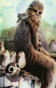 CHEWBACCA AND THE PORGS