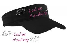 Rhinestone transfer for a visor- drop ship your visors to us & we can press! Perfect item for special events &/or fundraisers; add your logo!