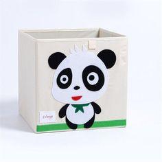 Cube storage box - panda Toy Storage Boxes, Cube Storage, Storage Ideas, Kallax Shelving Unit, Toy Chest, Kids Toys, Panda, Articles Divers, Products