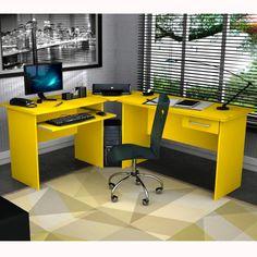 Foto 1 - Mesa Escritório Master Zanzini Amarelo