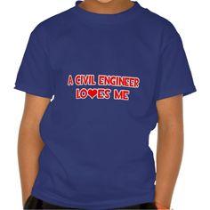 A Civil Engineer Loves Me T Shirt, Hoodie Sweatshirt