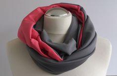 *NovemberLicht* Schlauchschal in grau-rosa von sissela auf DaWanda.com