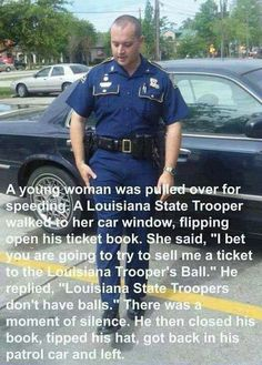 Might just be the best way ever to get out of a ticket...