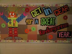 Robot theme to begin the school year.